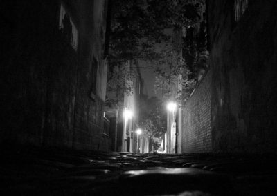 Cobblestone at night—Charleston, South Carolina, 2004