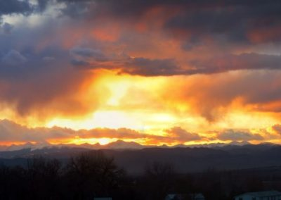 Mountain Sunset—Lafayette, Colorado, 2013