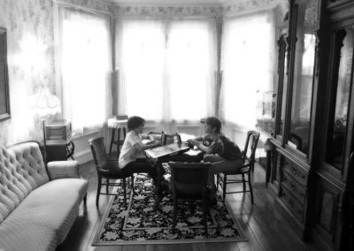 Cousins playing Battleship—Ithaca, New York, 2014