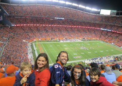 At the Broncos game with my kids, my girlfriend and her boy—Denver, 2014